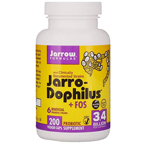Jarrow Formulas, Jarro-Dophilus + FOS, 3.4 Billion, 200 Capsules (Ice)