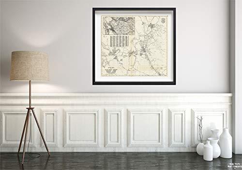 Map|State Atlas, Thomas Bros Walnut Creek, Concord, Lafayette, Orinda, Danville, Alamo, Moraga, Pacheco Adjacent Areas, California. 1938|Vintage Fine Art Reproduction|Size: 22x24|Ready to Frame