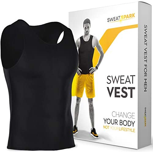 Sweat Vest for Men – S-6XL – Advanced Weightless Neoprene Sauna Shirt Increase Your Workout Motivation – Designed in The USA