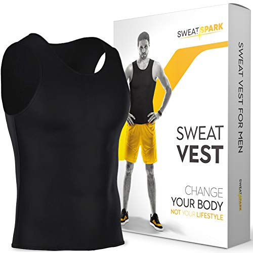 Sweat Vest for Men - (S-6XL) - Advanced Weightless Neoprene Sauna Shirt - Increase Your Workout Motivation - Designed in The USA