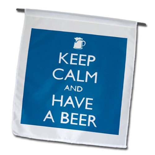 98fd8becb EvaDane - Funny Quotes - Keep calm and have a beer. Blue. - Flags - 12 x 18  inch Garden Flag - fl_193571_1 - Buy Online in Oman.