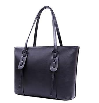 Woman Lady Single shoulder bag concise High-capacity Handbag black xdvb80