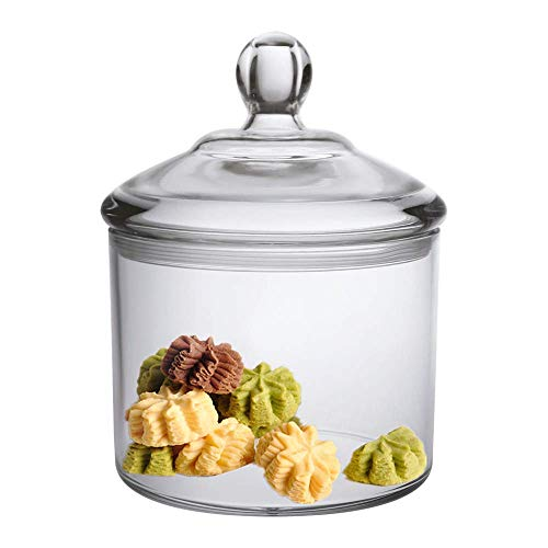 Premium Quality Acrylic Food Jar, Cookie Jar With Airtight Seal Lid, Break-Resistant, BPA-Free, 40 Oz (Small Glass Cookie Jars With Lids)