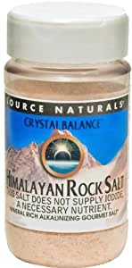 Source Naturals Himalayan Rock Salt by Crystal Balance Fine Grind, Mineral-Rich Alkalinizing Gourmet Salt