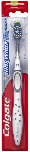 Colgate Max White Full Head Toothbrush, Medium (Pack of 6) Colors may vary (Colgate Max White Toothbrush With Polishing Star)