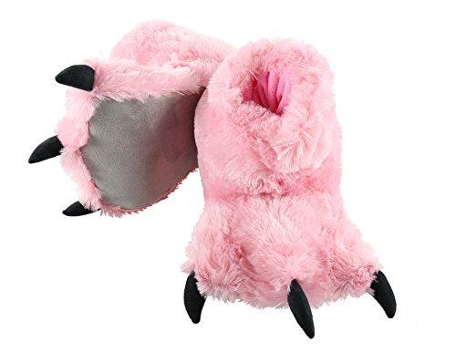 LazyOne Mädchen Pink Bear Paw Slipper Pantoffeln Kinder XS
