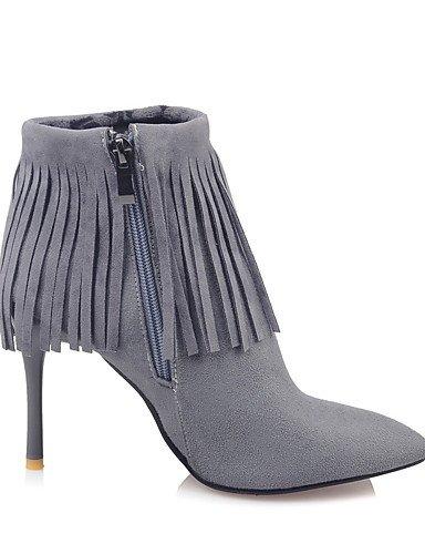 XZZ    Damen-Stiefel-Kleid-Kunstleder-Stöckelabsatz-Spitzschuh   Modische Stiefel-Schwarz   Rot   Grau B01KPZXYNY Sport- & Outdoorschuhe Zuverlässige Qualität ac5bd1