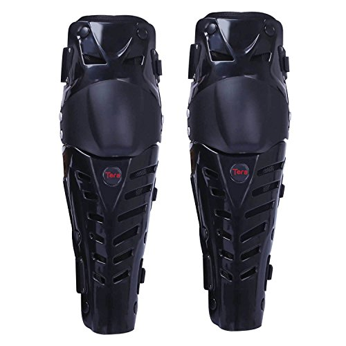 Tera 1 Pair of Adults Fashion Knee Shin Armor Protect Guard Pads Accessories with Plastic Cement Hook for Motorcycle Motocross - Pants Armor