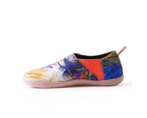 Uin Vrouwen Paars-droom Art Beschilderd Canvas Schoen Paarse Kleur
