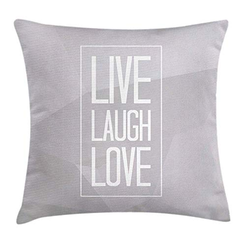 Live Laugh Love Throw Pillow Cushion Cover, Greyscale for sale  Delivered anywhere in Canada
