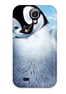 Durable Happy Feet 2 Movie Back Case/cover For Galaxy S4