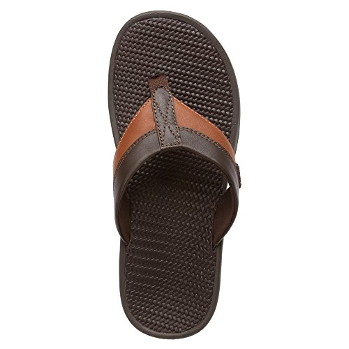Vionic Joel - Mens Orthotic Sandals - Orthaheel Chocolate/Tan - 13