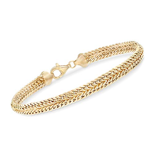 Ross-Simons 14kt Yellow Gold Double-Row Link Bracelet