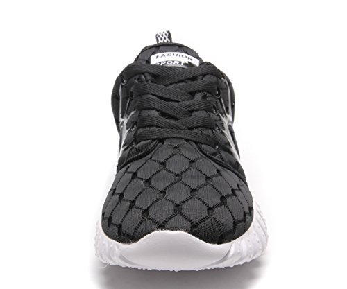clapzovr Unisex Comfort Lightweight Gym Sneakers, Women Men Sport Running Shoes Black