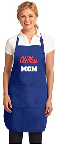 Broad Bay Deluxe Ole Miss Mom Apron w/Pockets Barbecue Grilling Kitchen Cooking