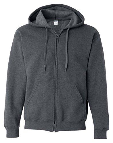 Gildan Heavy Blend Mens Vintage Full Zip Hooded Sweat / Hood