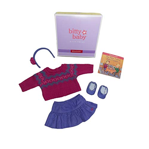 5Star-TD American Girl Bitty Baby Twins Fair Isle Skirt Set for 15' Dolls (Doll Not Included)