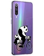 Oihxse Cristal Compatible con LG V50 Funda Ultra-Delgado Silicona TPU Suave Protector Estuche Creativa Patrón Panda Protector Anti-Choque Carcasa Cover(Panda A10)