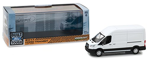 (Greenlight 86083 2017 Ford Transit Extended Van High Roof-White)