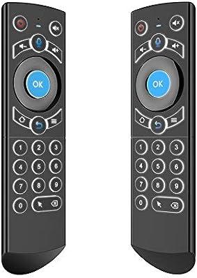 Ratón de Aire inalámbrico Gyro retroiluminado 2.4G G21 Smart TV Teclado inalámbrico Fly Mouse Smart Voice Control Remoto IR Aprendizaje para Android TV Box: Amazon.es: Hogar