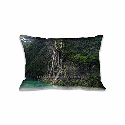 Greenwater Mountain Nature 20x30inch(2 Sides) Pillow Cushion Case Best Gift for Family Standard Pillow Case Protector