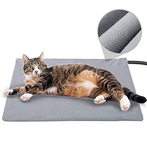Pet Heating Pad for Cat Dog,Soft Electric Blanket Auto Temperature Control Waterproof Indoor,House Heater Animal Bed…
