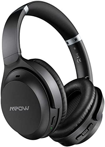 Mpow H12 IPO Active Noise Cancelling Headphones, Bluetooth 5.0 Headphones Over Ear with Type C, CVC 8.0 Mic, Hi-Fi Stereo, Deep Bass, 40H Battery, Wired/Wireless Headsets for Online Class, Home Office