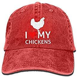 I Love My Chickens Unisex Adjustable Cotton Denim Hat Washed Retro Gym Hat FS&DMhcap Cap Hat -
