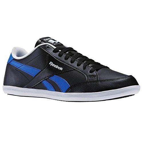 Reebok Royal Transport S, Zapatillas de Deporte para Hombre Negro / Azul / Blanco (Black / Blue Sport / White)