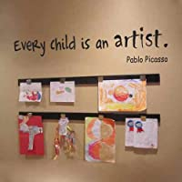 Every Child Is An Artist - PABLO PICASSO Wall Decal Quote...