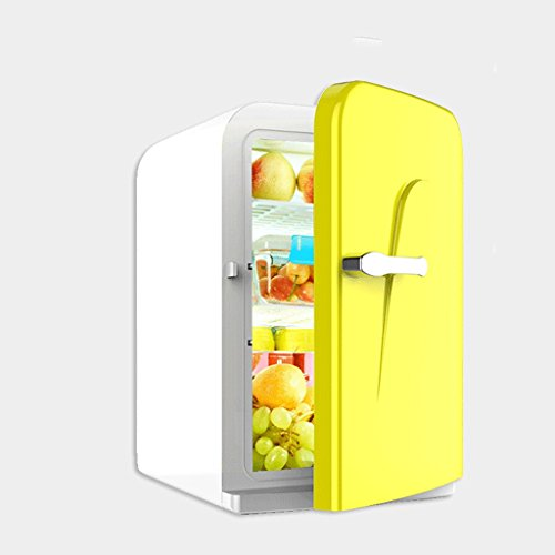 - Sunhai Mini Fridge - 16L Compact Refrigerator Holds 20 x 330ml Cans | (Color : Yellow)