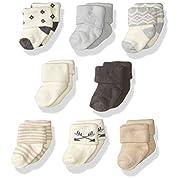 Hudson Baby Basic Socks, 8 Pack, Aztec, 0-6 Months