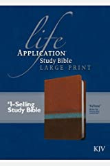KJV Life Application Study Bible, Second Edition, Large Print (Red Letter, LeatherLike, Blue/Brown/Tan) Imitation Leather