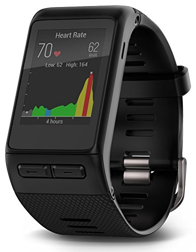 Garmin Vívoactive HR GPS Smart Watch, Regular fit - Black (Certified Refurbished)