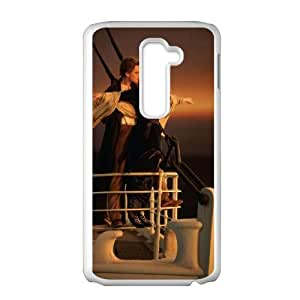 Popular And Durable Designed TPU Case with Titanic LG G2 Cell Phone Case White
