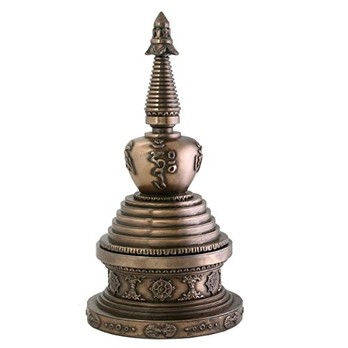 - Round Stupa Box Jewelry Holder Buddha Shrine Decoration Collectible