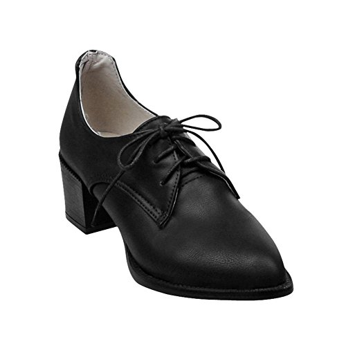 fb8a963578db good Latasa Women s Casual Pointed-toe Mid Heel Lace-up Chunky Oxford Shoes