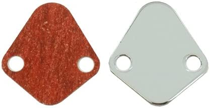 SB FORD Fuel Pump Block-Off Plate CHROME Emblem 289-302-351W NEW Proform 302-290