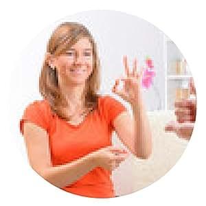 alfombrilla de ratón mujer sorda lenguaje de signos de aprendizaje - ronda - 20cm