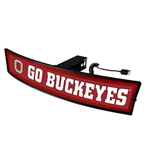 Fanmats NCAA Ohio State Buckeyes 20018 Light Up Hitch Cover, One Size, Team Colors by Fanmats