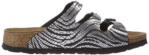 Pantofola Silver Taglia Papillion zebra Silber Florida Black 4wOcPBx8q