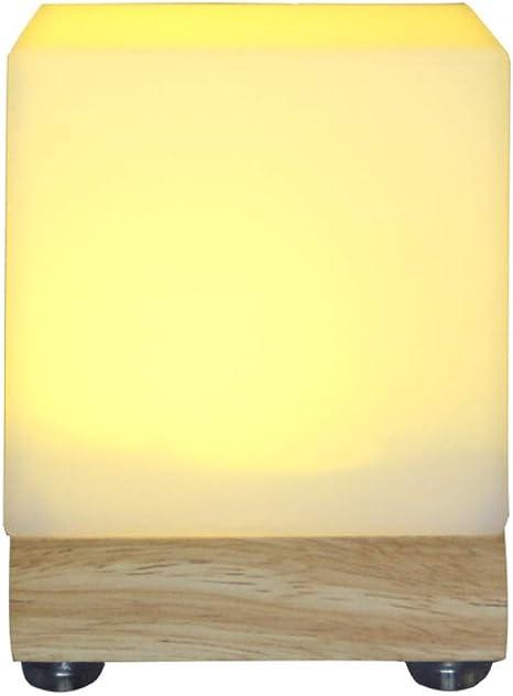 Girlxv Bar Lampada Da Tavolo Lampada Da Tavolo A Led Di Ricarica Quadrato In Legno Luce Notturna Servizio Luce Pubblicita A Lume Di Candela Boutique Amazon It Illuminazione