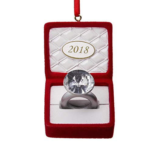 Hallmark 2018 Engagement Ring In Box Ornament