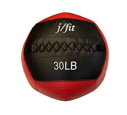 j/fit Medicine Ball, Red/Black, 30-Pound