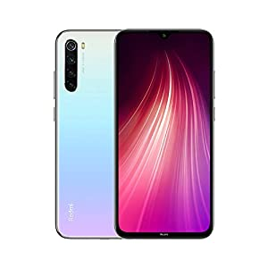 Xiaomi Redmi Note 8 (64GB, 4GB) 6.3″ Display, Snapdragon 665, 48MP Quad Camera, Dual SIM GSM Factory Unlocked – US & Global 4G LTE International Version (Moonlight White, 64GB + 64GB SD + Case Bundle)