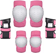 Adult/Child Knee Pads Elbow Pads Wrist Guards 3 in 1 Protective Gear Set for Multi Sports Skateboarding,BMX,Ro