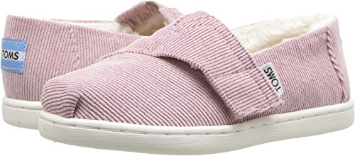 TOMS Kids Baby Girl's Alpargata (Infant/Toddler/Little Kid) Faded Rose Corduroy/Faux Shearling 9 M US (Toms Corduroy)