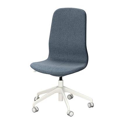 Pleasing Amazon Com Ikea Swivel Desk Chair Gunnared Blue White Ncnpc Chair Design For Home Ncnpcorg