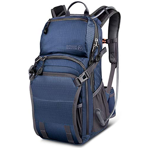 OutdoorMaster 25L HYDROBACK Hydration Backpack - 2L BPA Free Bladder | Large Volume, Ultra Ventilated Lightweight Day Pack for Hiking, Cycling, Climbing, Trekking, MTB - ()