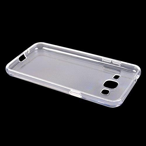 Galaxy J3 (2016) Funda,COOLKE Carcasa Transparentee Soft Silicone Cover Clear Case Funda Protectora Carcasa Blanda Caso para Samsung Galaxy J3 (2016) 5.0 - Transparente